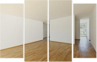 Fotobehang Lege kamer interieur met kamerhoge ramen en ...