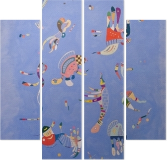 Vierluik Wassily Kandinsky - Hemelsblauw