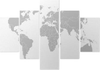 Vijfluik Kaart Van De Wereld