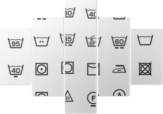 Vijfluik Pictogrammen instellen en wasmachine