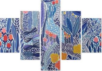 Vijfluik Tropische naadloos bloemenpatroon