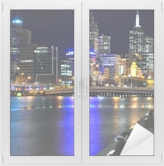 Melbourne mit Skyline und Yarra River Vindue og glas klistermærke