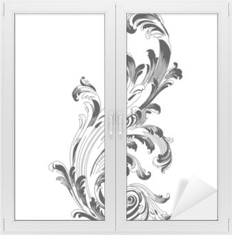 Vintage barok ornament. retro mønster antik stil acanthus. dekorative designelement filigran kalligrafi vektor. - stock vektor Vindue og glas klistermærke