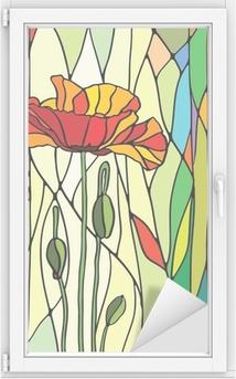 b9f0dac8 Vindu- og glassklistremerke Floral glassmaleri