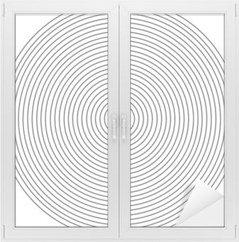 Vindu- og glassklistremerke Konsentrisk sirkelelement på en hvit bakgrunn