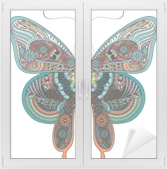 Vindu- og glassklistremerke Nydelig sommerfugl