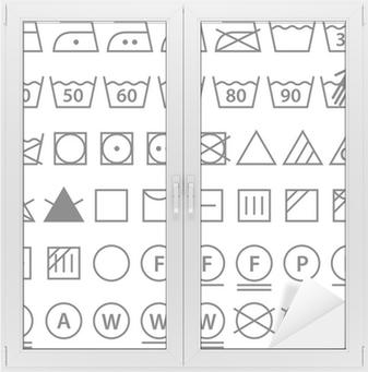 406abb3f Pixerstick-klistremerke Sett med vaske symboler (Klesvask ikoner) • Pixers®  - Vi lever for forandring