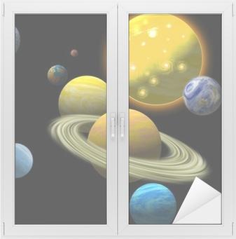 Vindu- og glassklistremerke Solsystemet