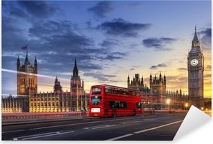 Vinilo Pixerstick Abadía de Westminster, el Big Ben de Londres