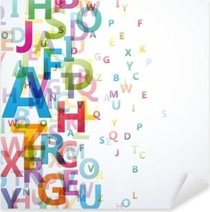 Vinilo Pixerstick Abstract Color alfabeto en el fondo blanco # Vector