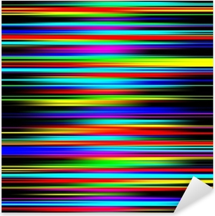 Vinilo Pixerstick Abstracto multicolor vibrante graduó patrón de rayas.