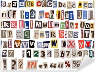 Vinilo Pixerstick Aislado alfabeto periódico