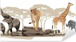 Vinilo Pixerstick Animales africanos