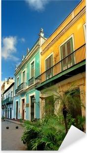 Vinilo Pixerstick Arquitectura típica de La Habana Vieja
