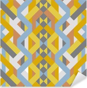 Vinilo Pixerstick Arte en colores pastel del modelo del estilo del deco geométrico retro abstracto