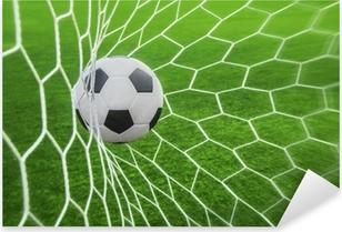 Vinilo Pixerstick Balón de fútbol en la portería