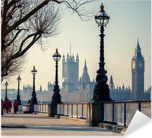 Vinilo Pixerstick Big Ben y las Casas del Parlamento, Londres