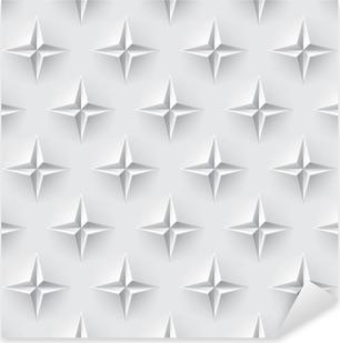 Vinilo Pixerstick Blanco perfecta textura 3d