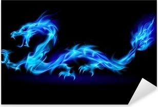 Vinilo Pixerstick Blue Fire Dragon