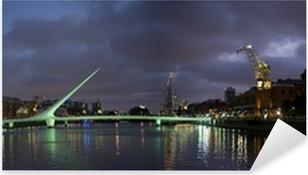 Vinilo Pixerstick Buenos Aires Skyline