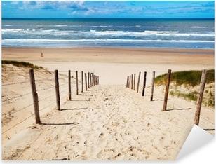 Vinilo Pixerstick Camino a la playa