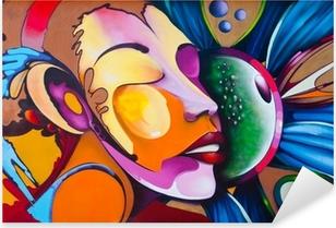 Vinilo Pixerstick Cara grafiti