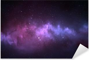 Vinilo Pixerstick Cielo nocturno - Universo lleno de estrellas, nebulosas y galaxias