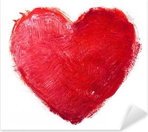 Vinilo Pixerstick Corazón acuarela. Concepto - el amor, la relación, el arte, la pintura