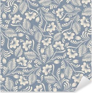 Vinilo Pixerstick De fondo sin fisuras en azul estilo popular