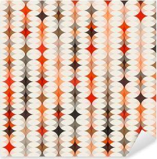 Vinilo Pixerstick De fondo sin fisuras patrón de color naranja