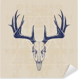 Vinilo Pixerstick deer skull