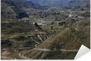 Vinilo Pixerstick Der Cañón del Colca en Perú