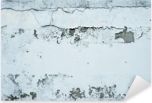 Vinilo Pixerstick Descamación de pintura en una pared de piedra