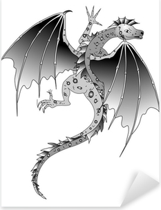 Vinilo Pixerstick Drachen-Echse-dragón