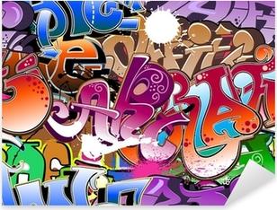 Vinilo Pixerstick El graffiti de fondo sin fisuras