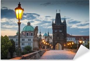 Vinilo Pixerstick El Puente de Carlos, Praga