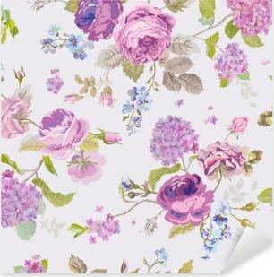 Vinilo Pixerstick El resorte florece el fondo - sin patrón floral elegante lamentable