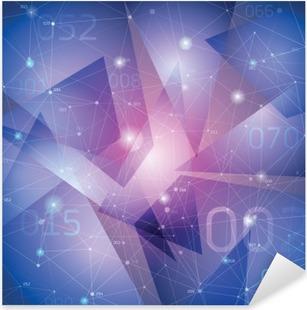 Vinilo Pixerstick Espacio de antecedentes, las superficies de geometría, líneas y puntos,