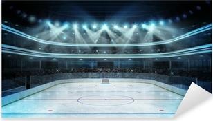 Vinilo Pixerstick Estadio de hockey con los espectadores y una pista de hielo vacía