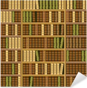 Vinilo Pixerstick Estantería llena de libros antiguos