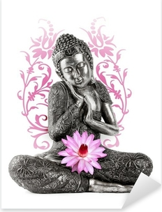 Vinilo Pixerstick Estatua de Bouddha