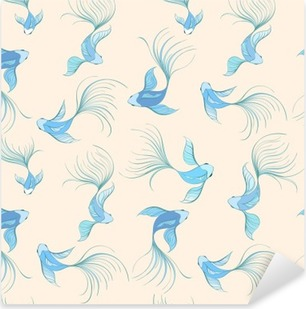 Vinilo Pixerstick Fish seamless pattern
