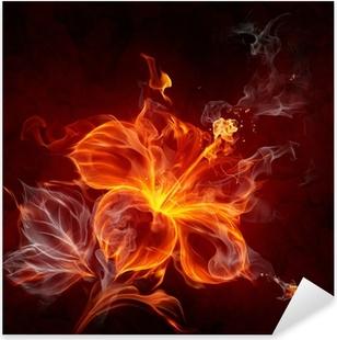 Vinilo Pixerstick Flor de fuego