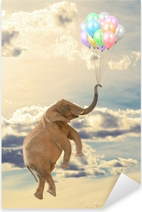 Vinilo Pixerstick Flying Elephant Con El Globo