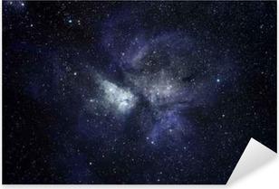 Vinilo Pixerstick Fondo azul del espacio