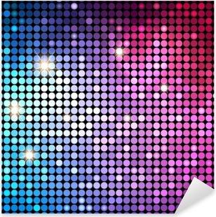Vinilo Pixerstick Fondo colorido abstracto de los puntos del disco. Antecedentes del vector