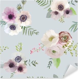 Vinilo Pixerstick Fondo floral de la vendimia - sin patrón - en el vector