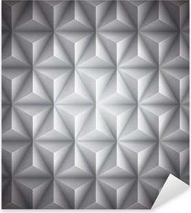 Vinilo Pixerstick Fondo gris abstracto geométrico de baja poli papel. Vector