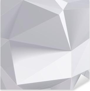 Vinilo Pixerstick Forma geometría de polígono baja. ilustración vectorial
