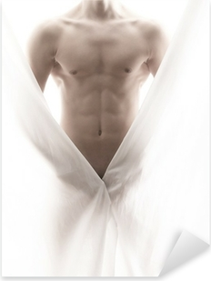 Vinilo Pixerstick Frente a un cuerpo masculino en parte desnuda